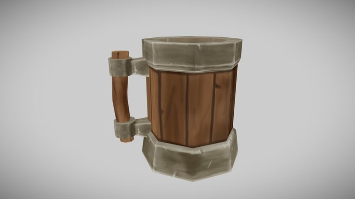 Dwarf beer stein 3D Model