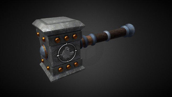 Doomhammer Low Poly 3D Model