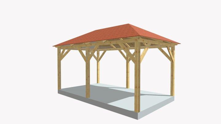Dřevěná pergola Altán Mila 3D Model