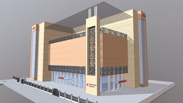 Woodlands Hospital,Kolkata-3D Blocking Op1 3D Model