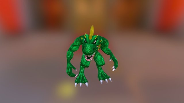 Game Cube - Rampage Total Destruction - Lizzie 3D Model