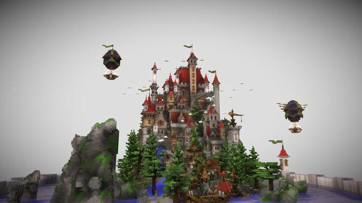 Dream Castle Spawn | Hub 3D Model