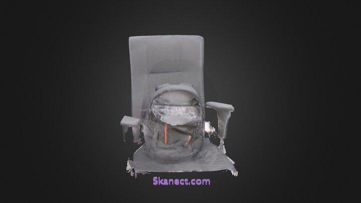 의자와 가방 3D Model