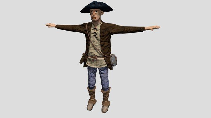 Human Militia 3D Model