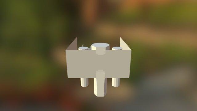 Control Room Mockup 3D Model