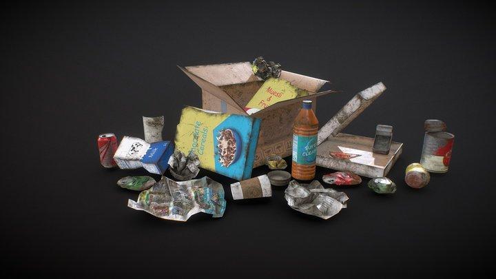 Urban Trash - Low Poly 3D Model
