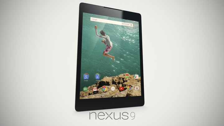 Google Nexus 9 - Lunar White 3D Model