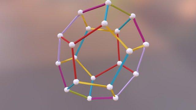 Dodec-RYB-maroon-olive-lavender 3D Model