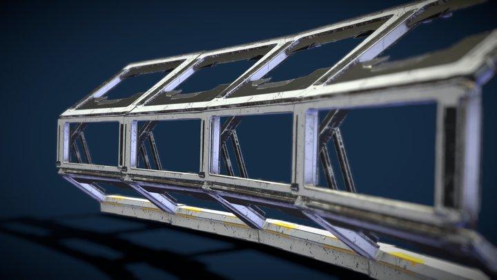 Modular Sci Fi Window 3D Model