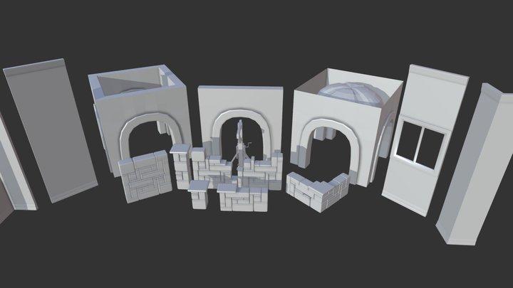 Witcher Modular Kitbash 3D Model