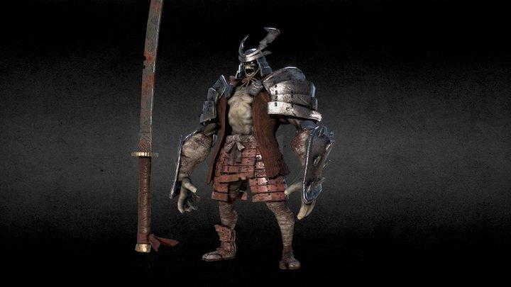 Undead samurai 3D Model