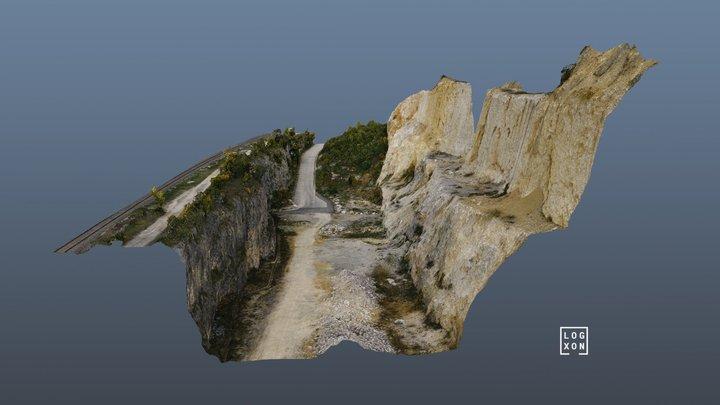 Photogrammetry Point Cloud of a Stone Quarry 3D Model