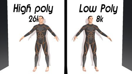 Low Poly vs high Poly 3D Model