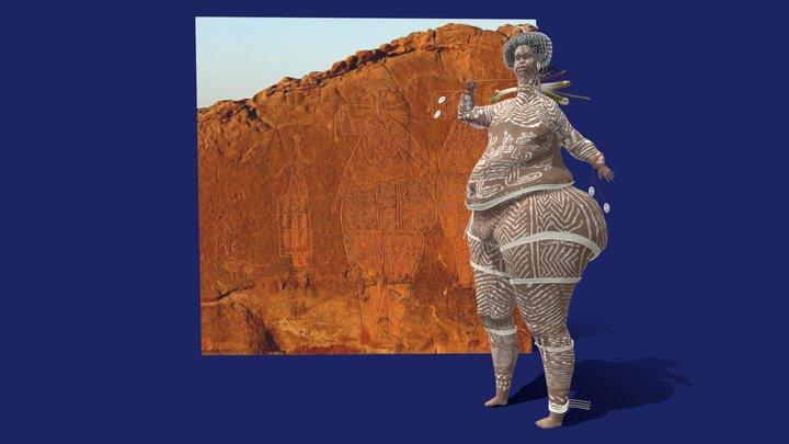 The Niola Doa androgynous figures 3D Model