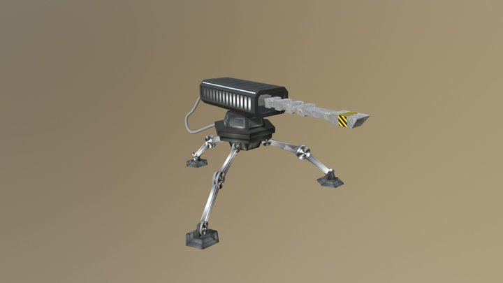 Laser-turret 3D Model