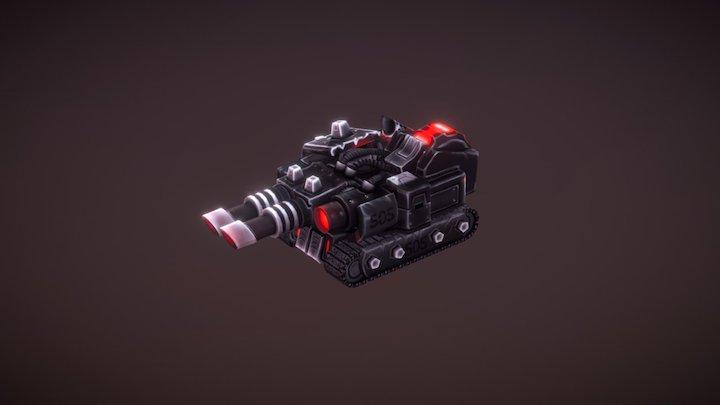 Laser Tank for RTS Game 3D Model