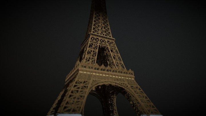 Eiffel Tower - 1890 3D Model