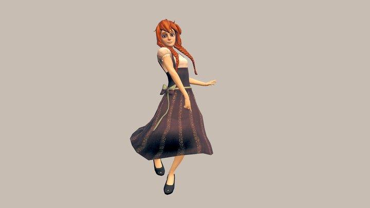 Asuka by lulles (fanart) 3D Model