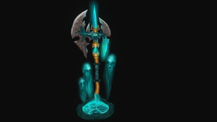 Serax The Nightmare of Souls - WoW Weapon 3D Model