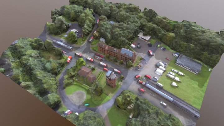 Feuerwehr Muenster DroneScan 3D Model