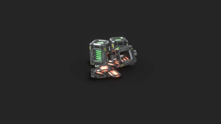 Charge Battery 3D Model