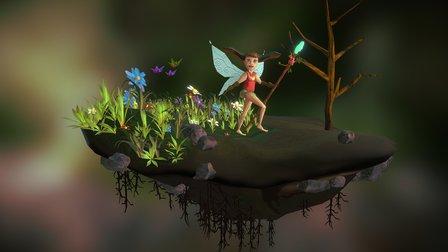 Earth's Fairy 3D Model