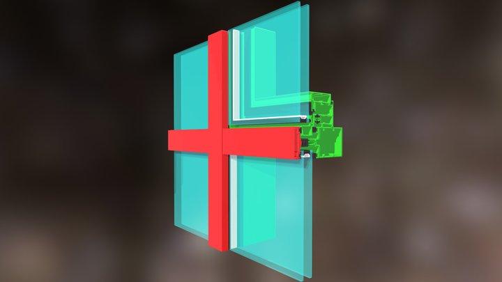Muro Cortina Con Tapeta 2 3D Model