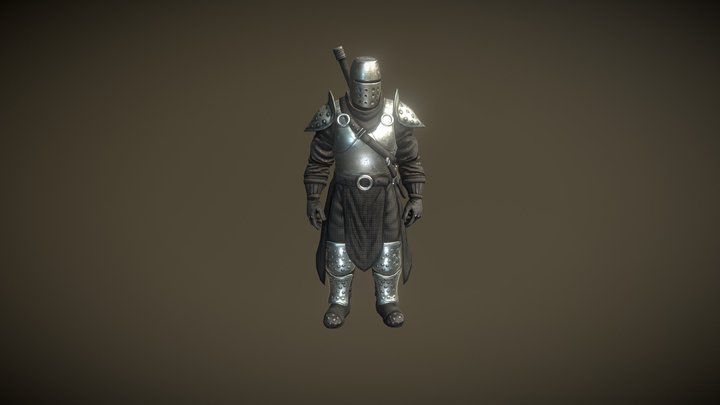 Strong Knight 3D Model
