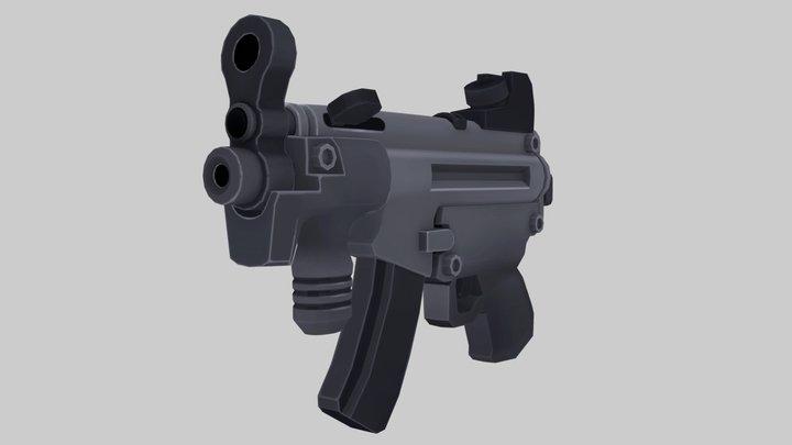 Cartoon HK MP5 3D Model