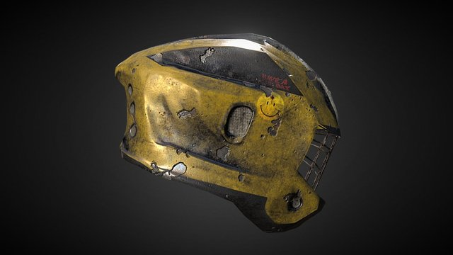 Postapo Helmet 3D Model