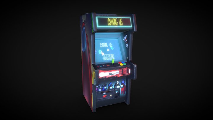 Amung Us Arcade 3D Model