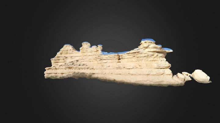 Smoky Hill Chalk, Castle Rock Badlands, KS 3D Model