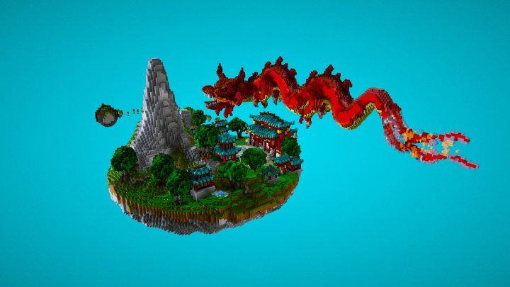 Lobby JapanDrago 3D Model