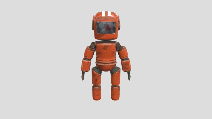 Love, Death + Robots, small orange bot 3D Model
