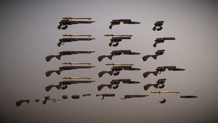 modular weapons 3D Model