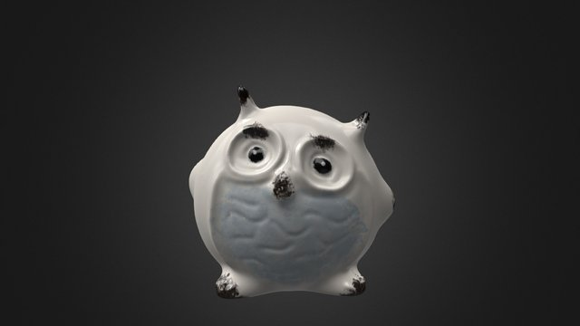 Little decorative owl 3D Model