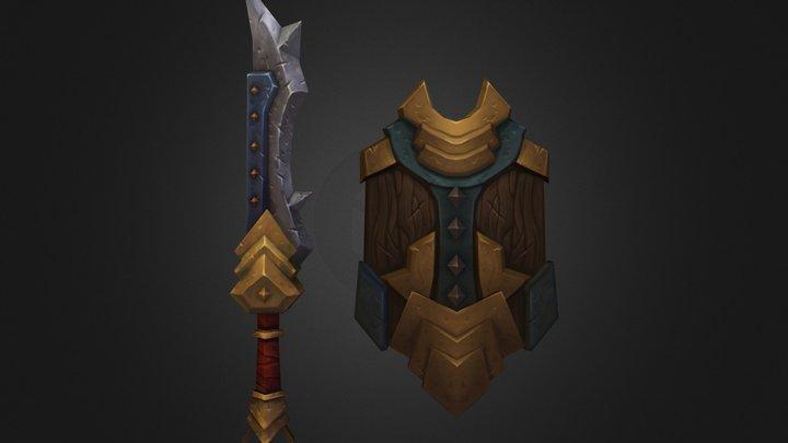 3dm sword & shield 3D Model