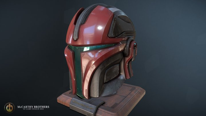 Mando Helmet 3D Model