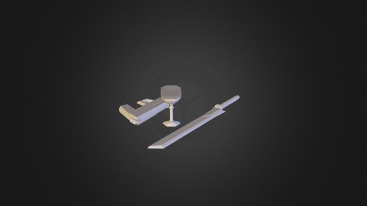 Hunter Macgregor Props Gun Sword Goblet 3D Model