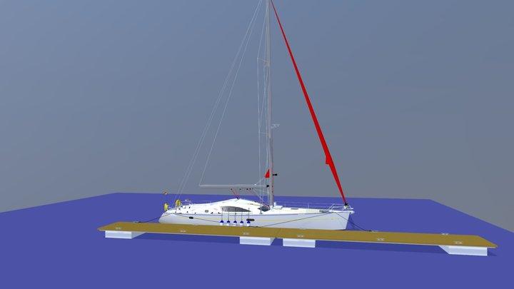 Yacht alongside 3D Model