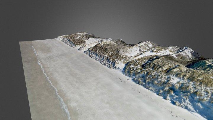Les dunes de Merlimont Sud (62) en Avril 2018 3D Model