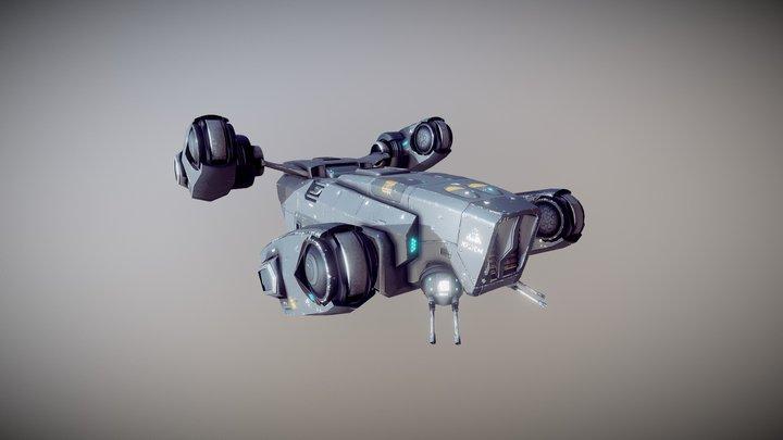 Sci Fi Dropship 3D Model