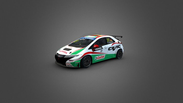Honda Civic WTCC 3D Model