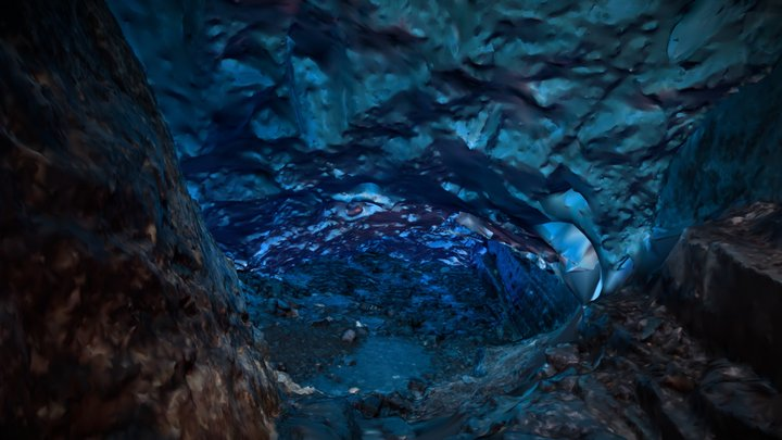 Ice cave - Tyndall glacier 3D Model