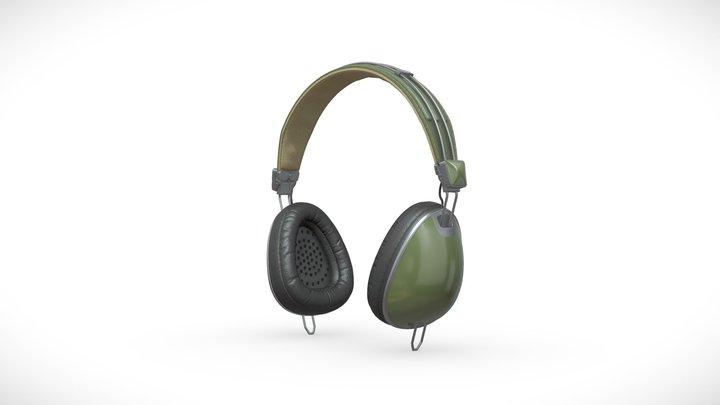 Aviator Headphones 3D Model