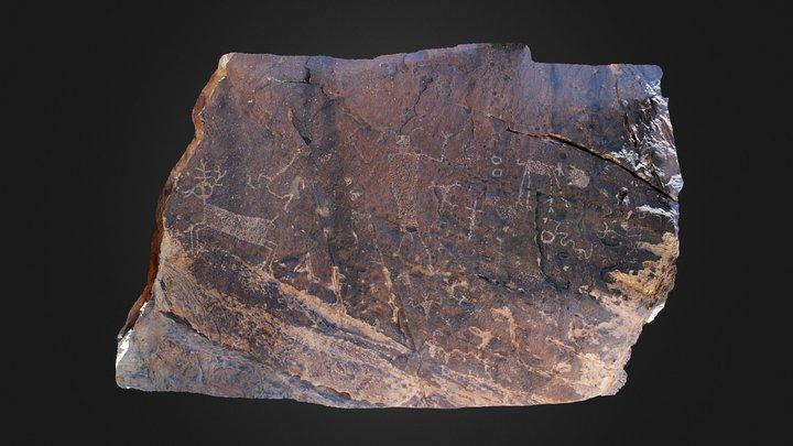 West Texas Petroglyph Panel
