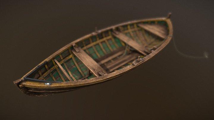 Old pebble boat 3D Model