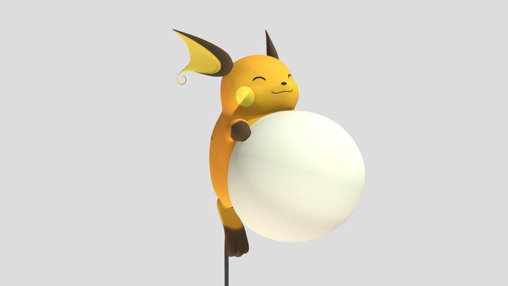 Permanently P-Ballooned Raichu 3D Model