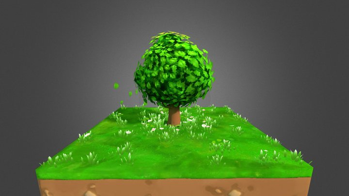 Tree on a Field 3D Model