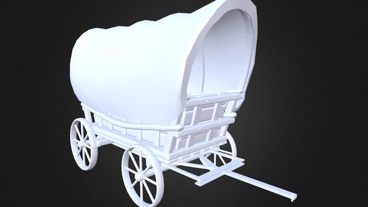 Old Western Wagon 3D Model